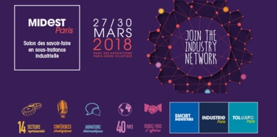 "27/30-03-2018: Join us at stand 1G107 in ""Midest Paris"""