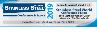 "26-28/11/2019: saremo presenti a ""Stainless Steel World Conference"""
